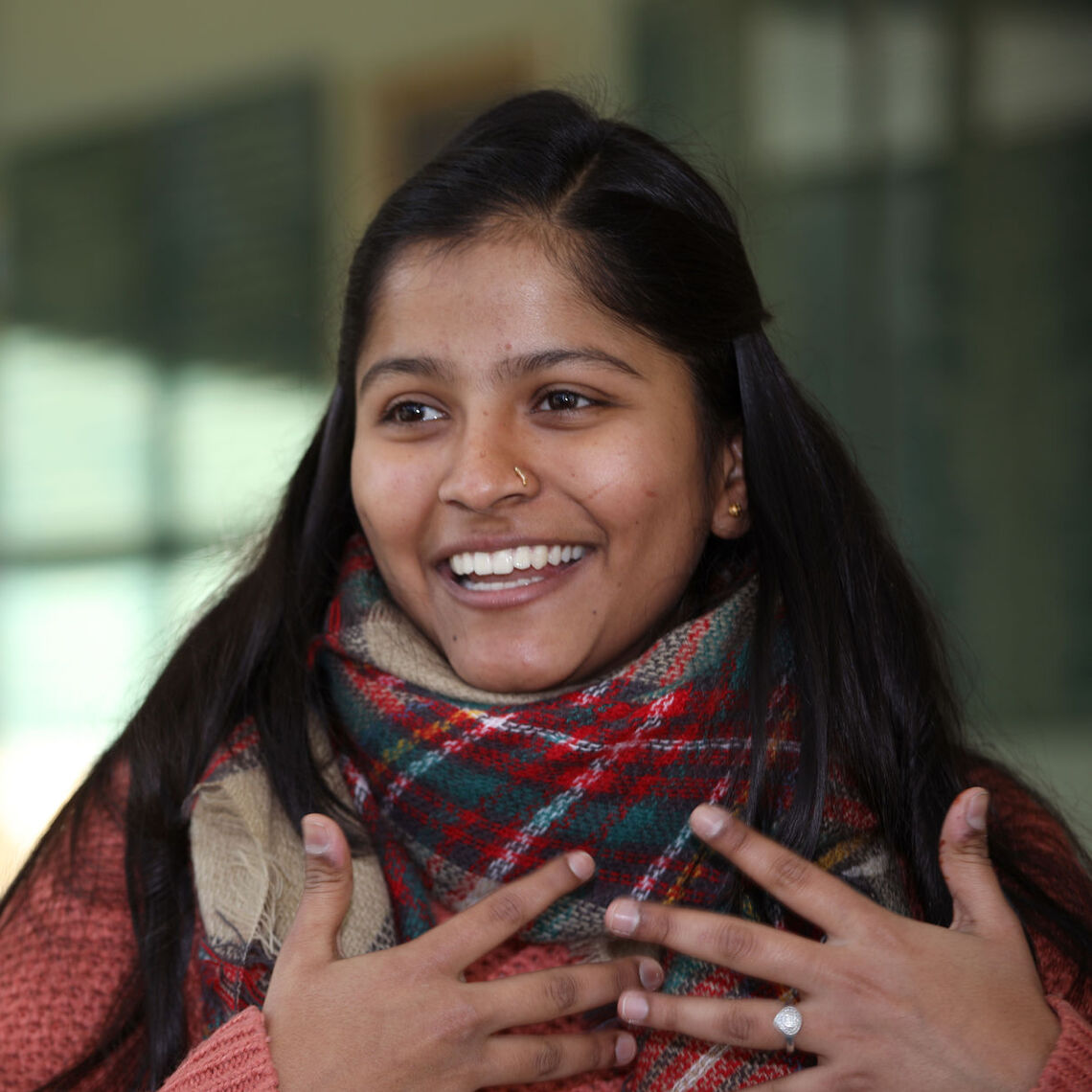 """""""I find a lot of value in living another life. I can empathize with other people and put myself in their shoes,"""" said senior Priyanka Patil in a 2019 interview. """"Acting allows me to understand humanity and extend compassion for other people."""""""