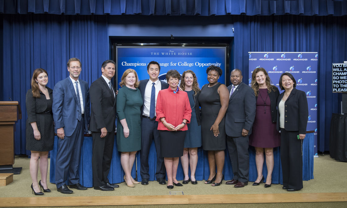 Porterfield and his fellow honorees, here with Valerie Jarrette, the White House director of the office of Public Engagement and Intergovernmental Affairs, emerged from hundreds and hundreds of nominations across the country.