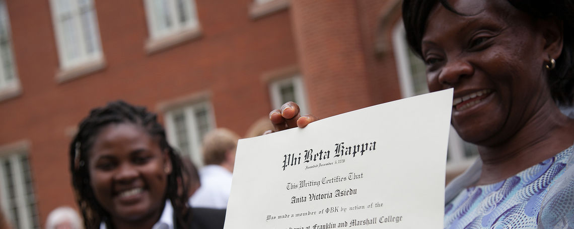 Phi Beta Kappa certificate