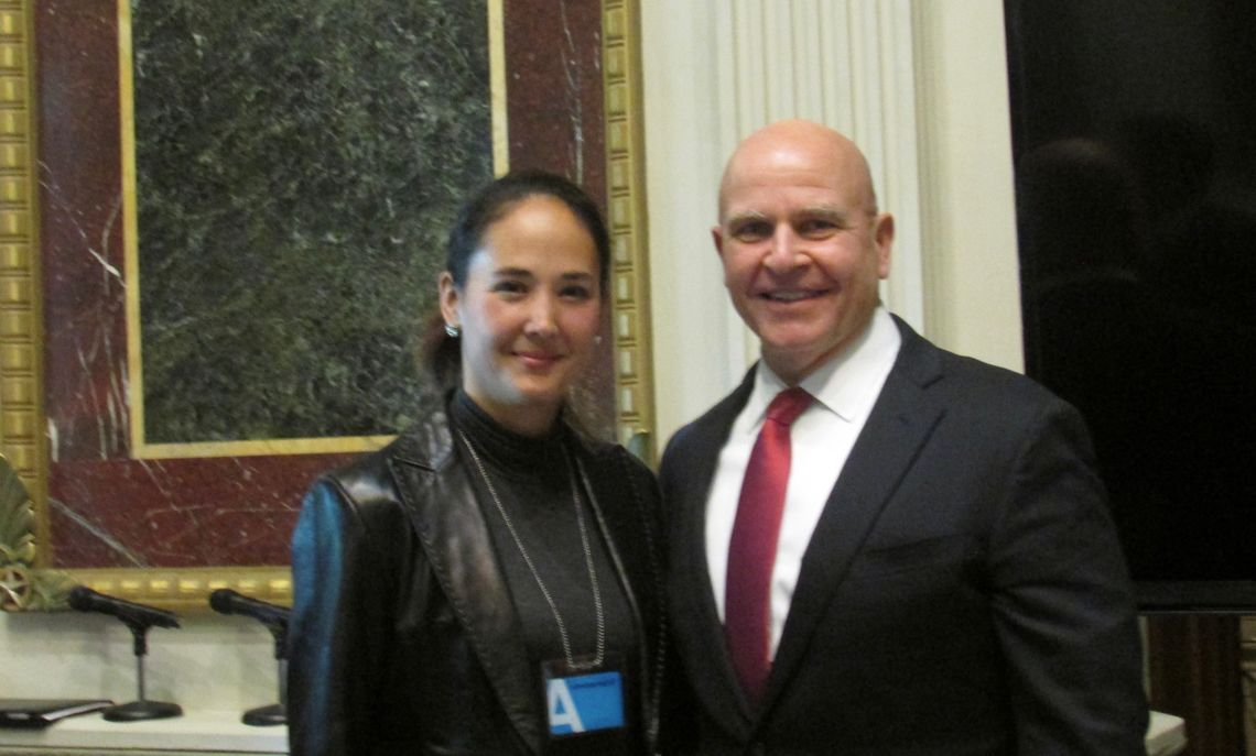 McMaster follows Kollars research in the military journals on strategy and survival. He last invited her to lecture the army in August 2016.