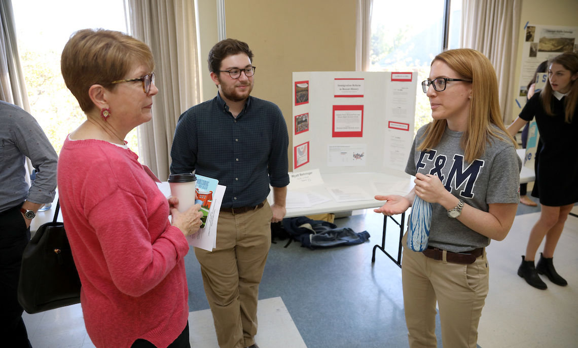 At Steinman College Center on Friday, a new tradition began. The Summer Experience Fair: How F&M Students Spent Their Summer in 2017 gave sophomores to seniors the chance to share their internships, off-campus study, volunteer and service opportunities, and research.