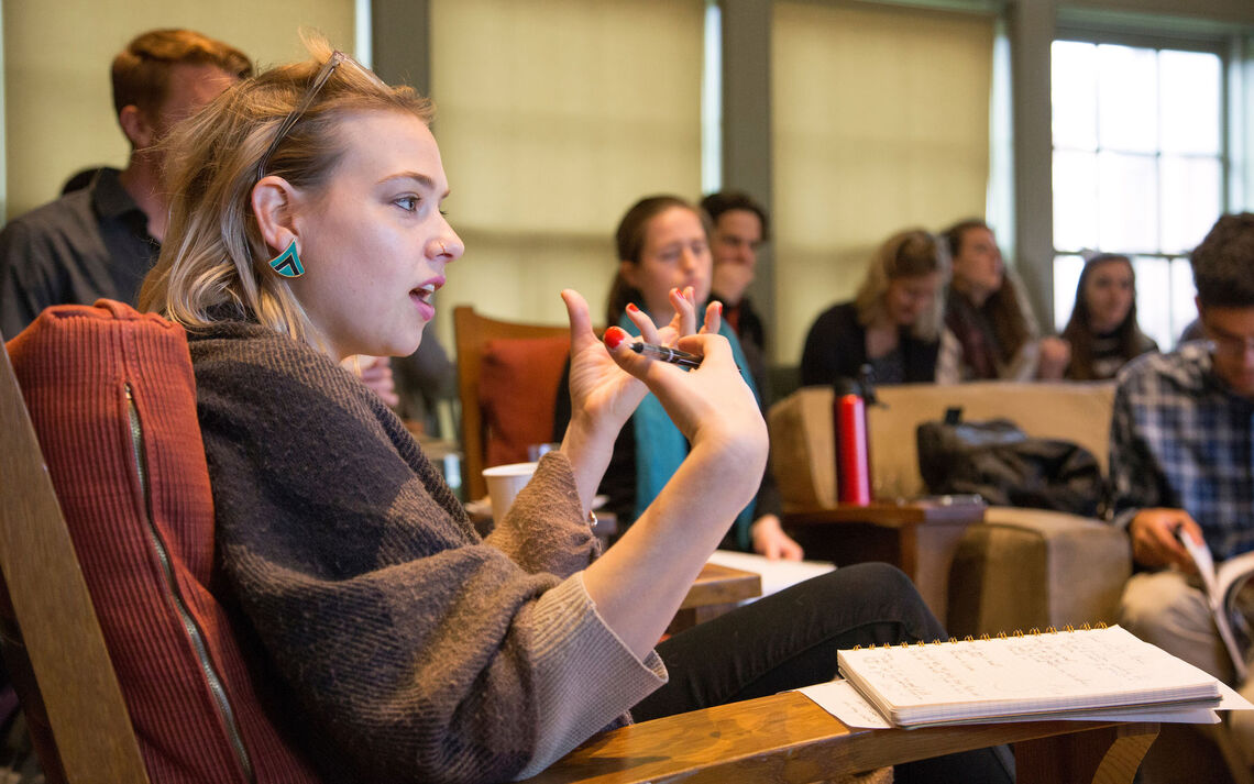 Alumna Mandy Berman '09 gave a reading and hosted a craft talk at the Emerging Writers Festival (EWF) in 2018. For the third year in a row, an F&M graduate will be among the attendees of the EWF.