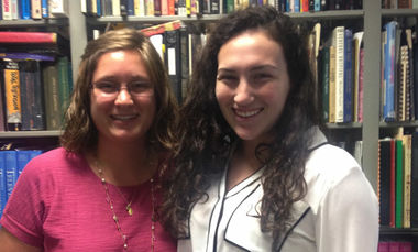 Joanna Radov, right, with one of her fellow interns at the Paley Center for Media, summer 2015.