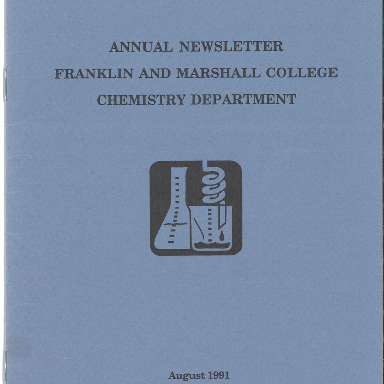 1991 Chemistry Newsletter Cover
