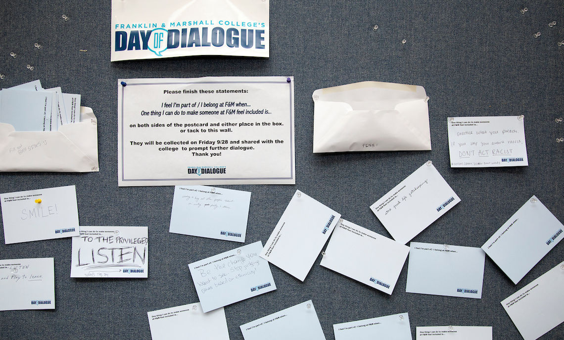 Some of the many forms of dialogue – post-it notes …