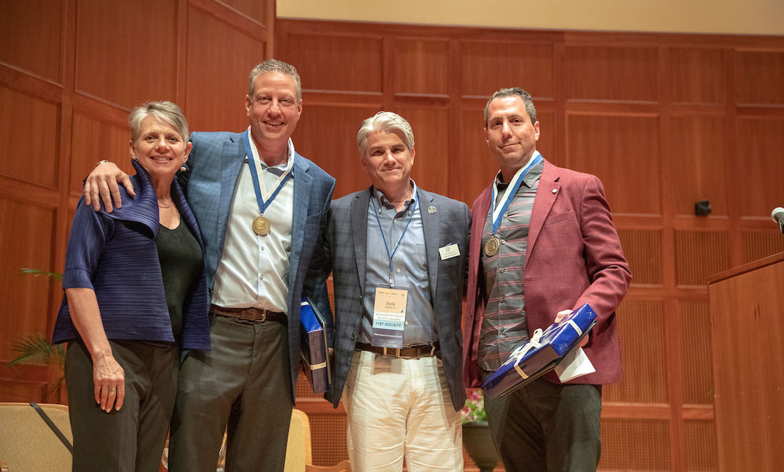 At the Alumni Celebration, Peter Deutsch '84 and Peter Schaffer '84 each received the Alumni Citation.