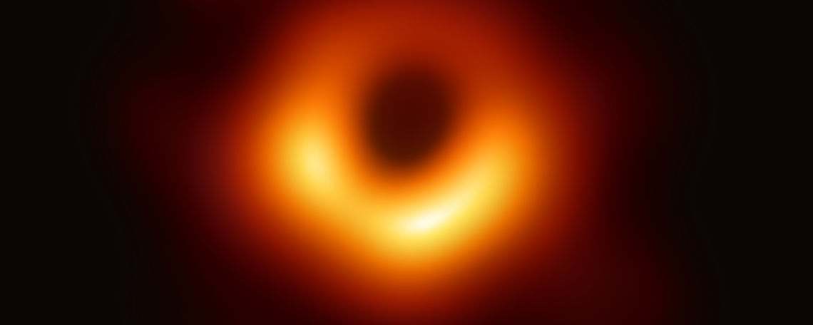 Radio image of the black hole Pōwehi, located in Messier 87.