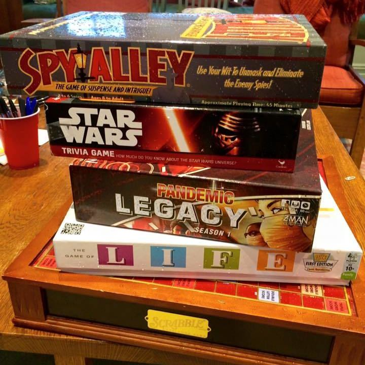 Plenty of games available at Writers House! 2/3/16
