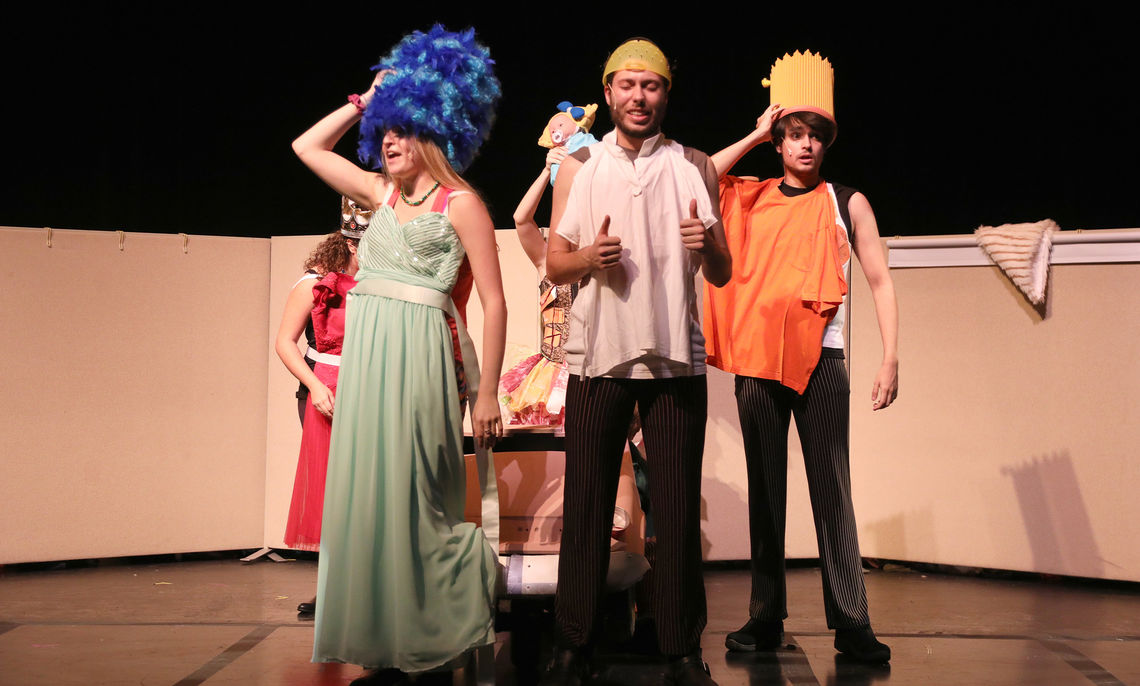 """The dark comedy jumps from realism to stylized musical theatre, culminating with a third act set 75 years later. Now we see """"The Simpsons"""" characters in an imagined future where pop culture stands as the foundation."""