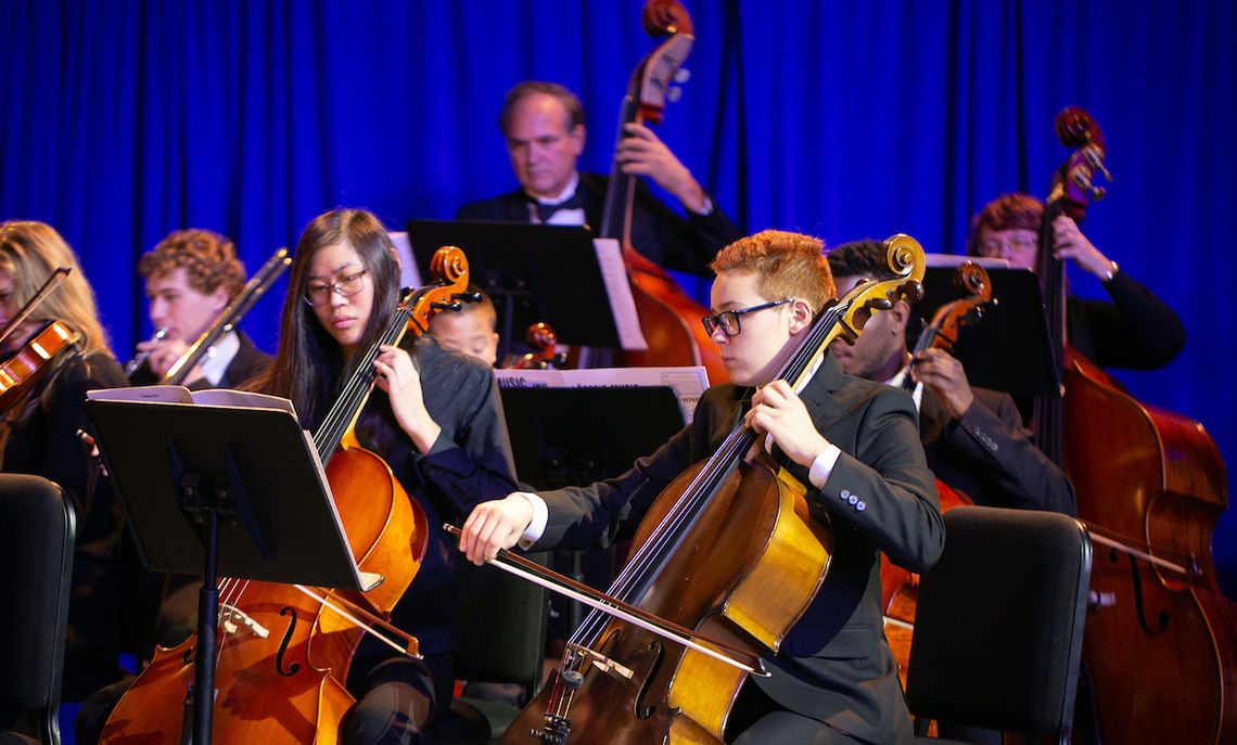 The F&M Orchestra, led by Brian Norcross, senior director of Instrumental Music and Conducting Studies, filled the inauguration with warm arrangements.