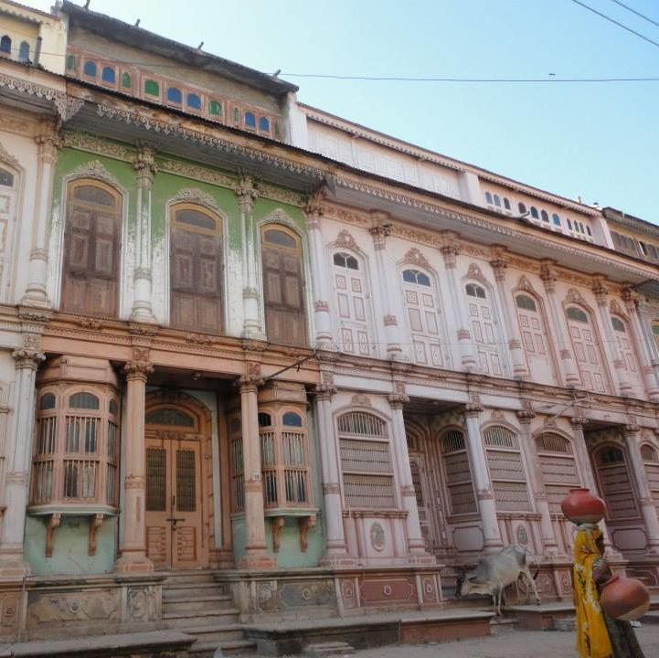 homes in Sidhpur, an old Muslim town in Gujarat, India shrima pandey india sit ihp cities fall 2014 OCS OIP