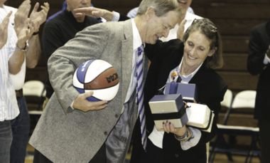 A pair of coaching legends: Glenn Robinson and Patricia S.W. Epps