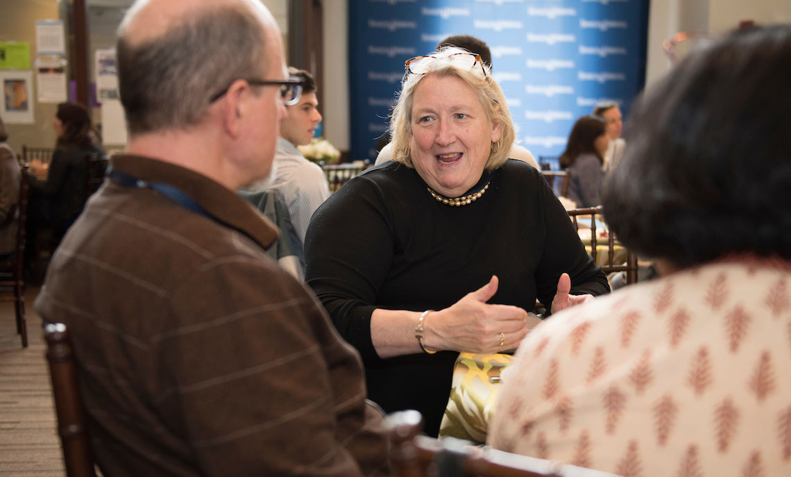 Dr. Joan Fallon '79, founder and CEO of Curemark, a clinical-stage biopharmaceutical company focused on developing novel therapies that treat neurological disorders, was the inspiration behind the symposium.