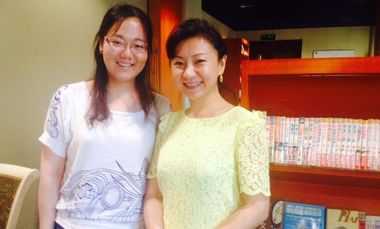 Bess Liu '16 with Professor Xi You, an active Chinese pianist