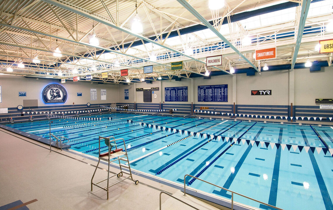 McGinness Pool at the Kunkel Aquatics Center in the Alumni Sports and Fitness Center.