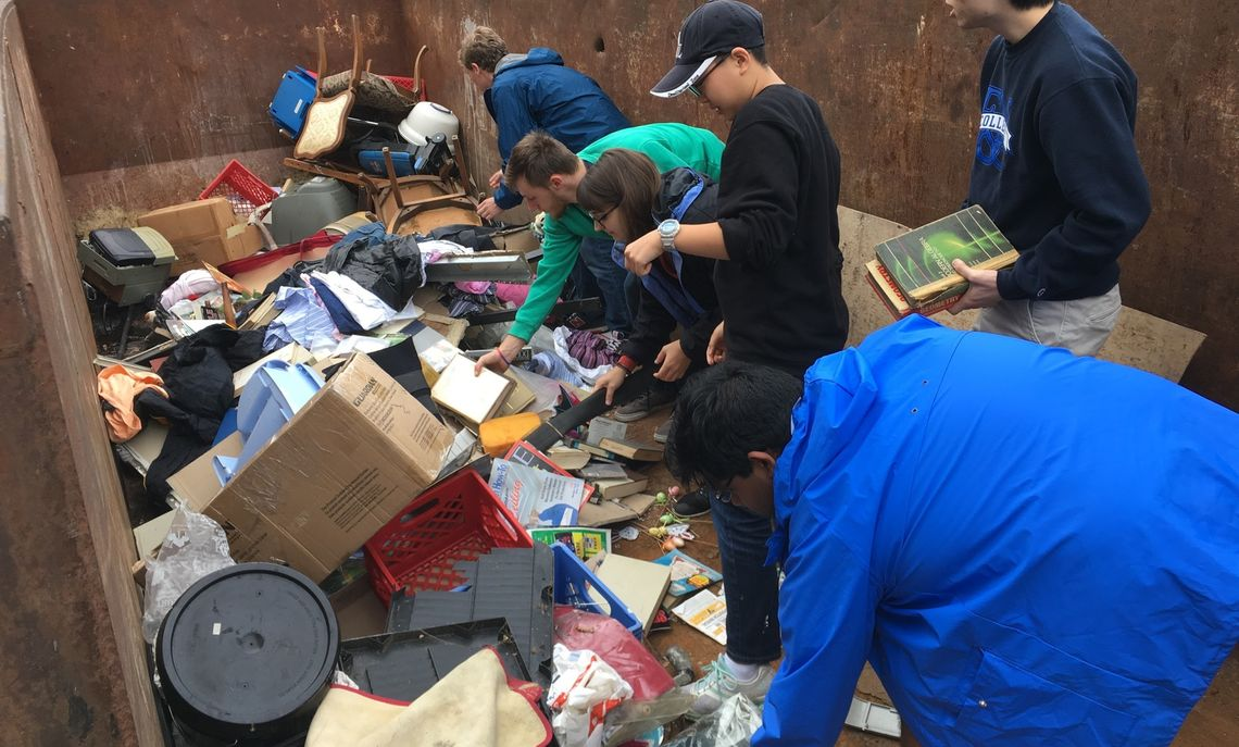 Our Fall break projects at Marshall Street and Chestnut Street. Fourteen CRAers and friends worked a collective 54 hours on Sat & Sun mornings to move some 12 tons of unneeded items from 2 homes.