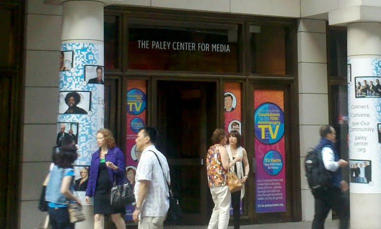 Entrance to the Paley Center for Media.