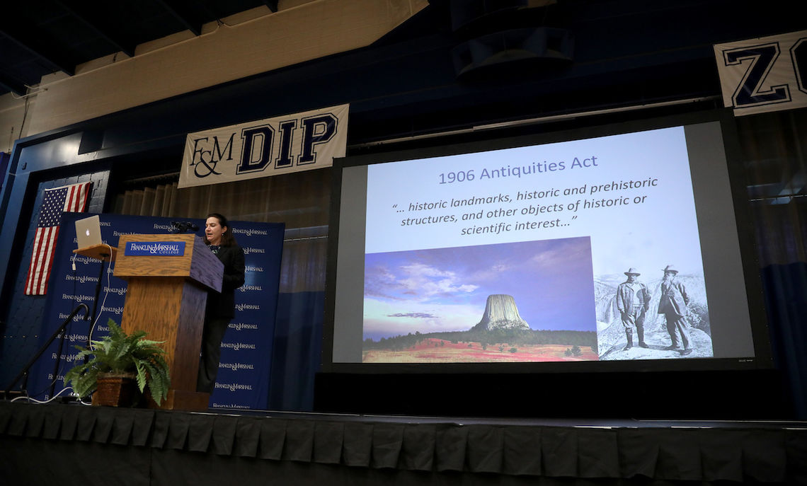 De Santo says the Antiquities Act was passed when President Theodore Roosevelt and other national leaders reacted to decades of looting from Native American sites by profiteers, who sold their historical and archeological treasures.