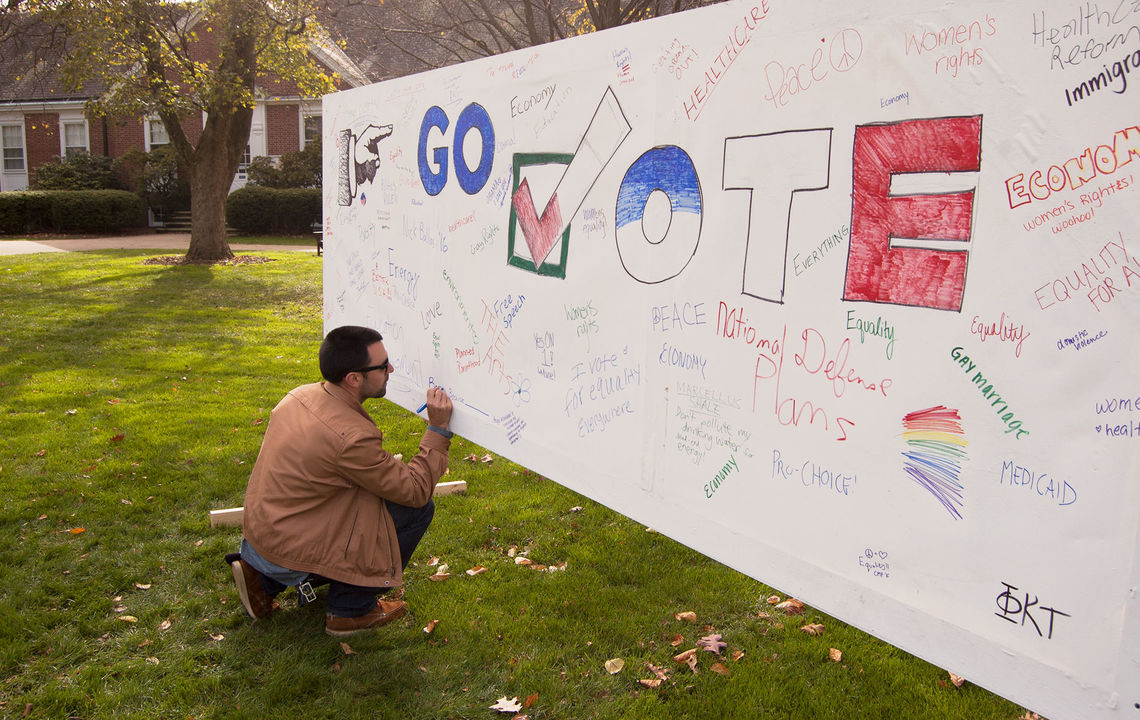 Get Out the Vote banner on Hartman Green