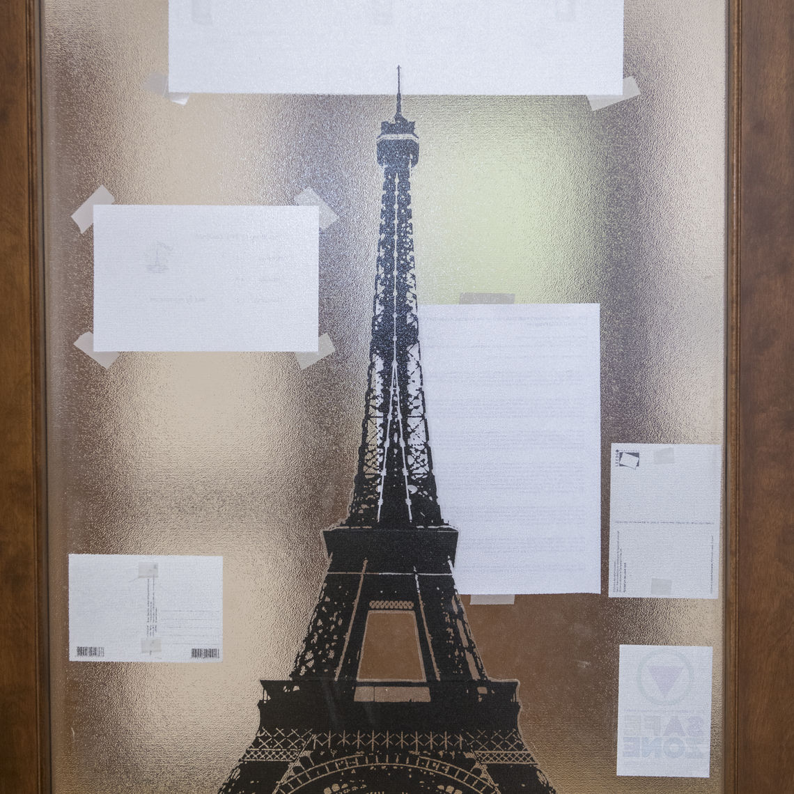 Carrie Landfried, associate professor of French, has many reminders of the famed Eiffel Tower in her office — including desk lamps, pictures and small replicas.