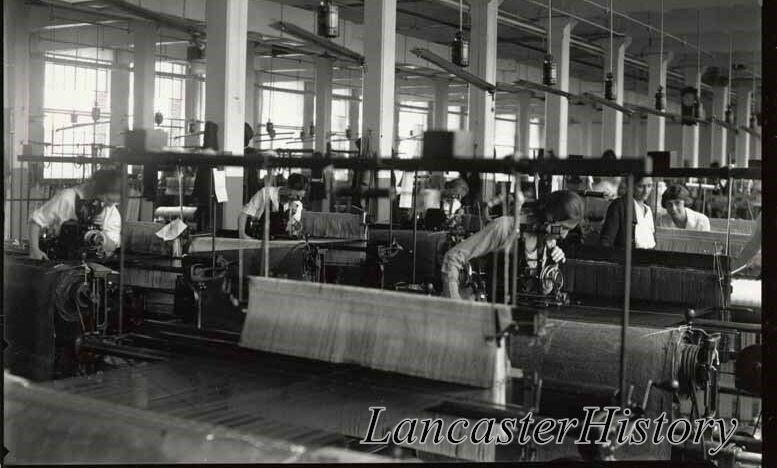 Stehli Silk Mill, interior, showing employees at work, June 28, 1920