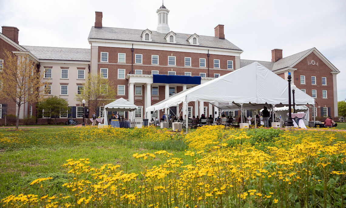 Roschel College House's new name, formerly New College House, was dedicated on a bright, spring afternoon.