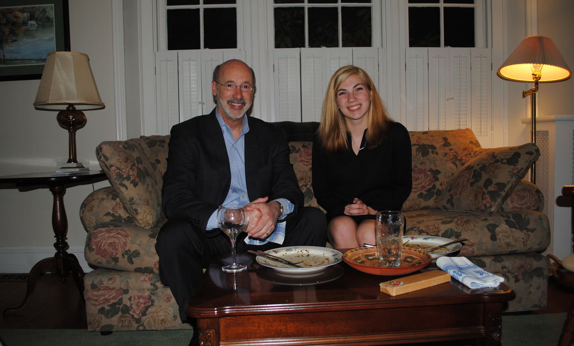 Pennsylvania Governor Tom Wolf and Leah Brenner '15