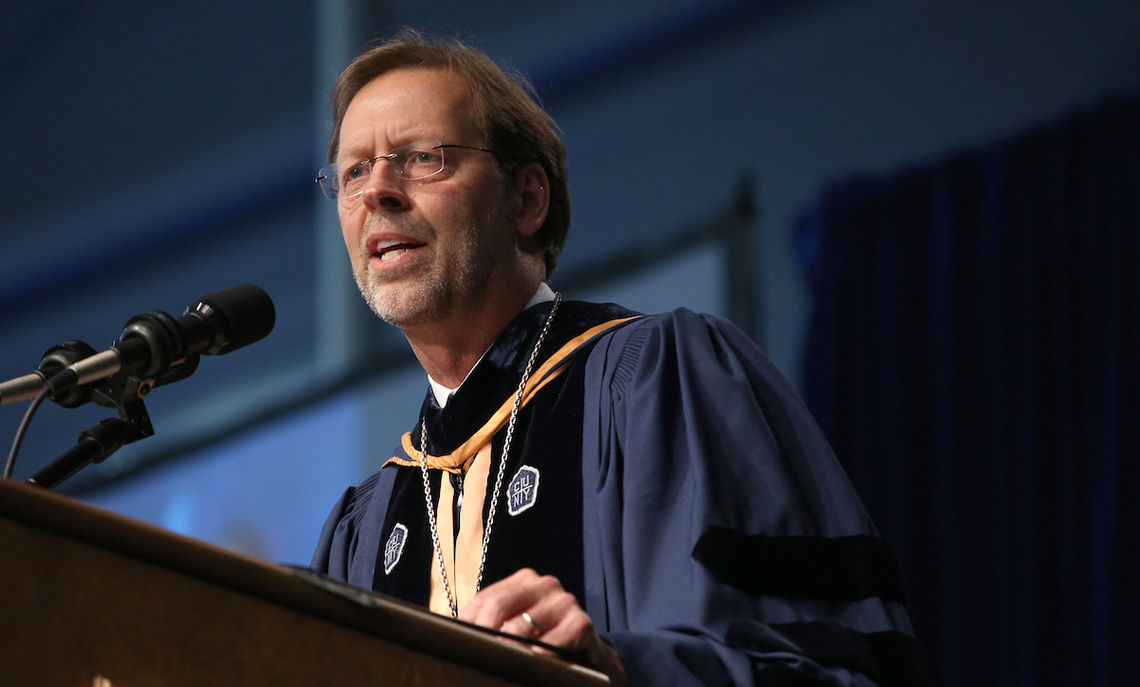 "Franklin & Marshal College President Daniel R. Porterfield, tells the members of the Class of 2017 that their education will serve them well in the years after College. ""Because change is life, your F&M education will be ever alive, ever-empowering, ever-relevant, ever-important, ever-renewing,"" he said."