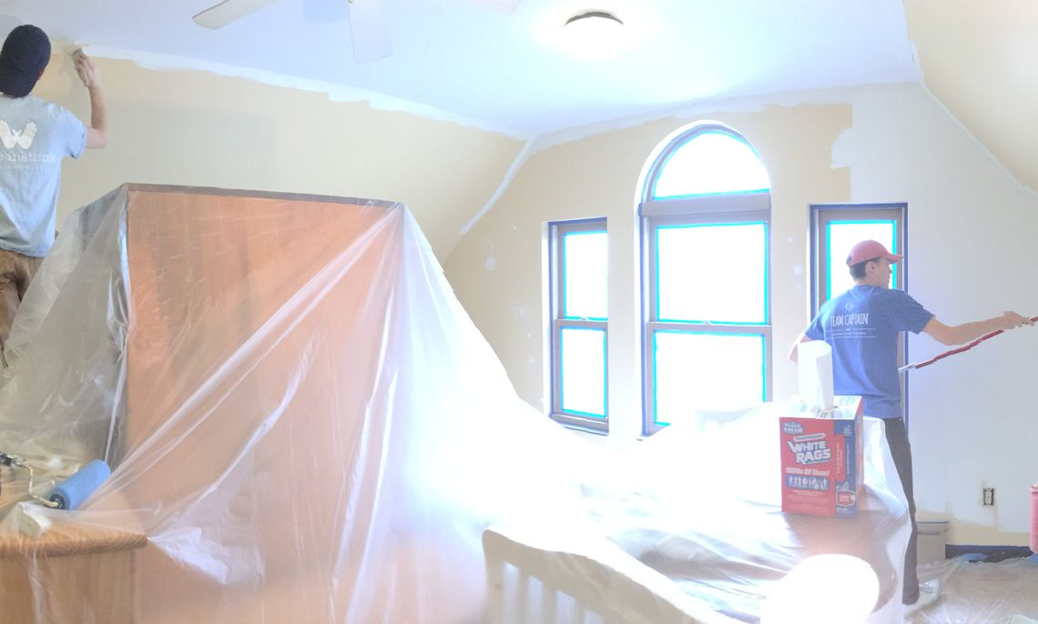 Each spring, CRA returns to Milagro house to paint. This year, we had 9 members working on our all day paint project.