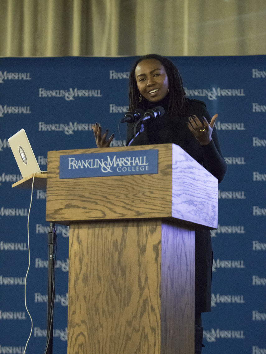 """We actually believe that all lives matter,"" Opal Tometi says, to cheers and applause. ""I wouldn't have had to co-create Black Lives Matter if that was a fact  [in our society]."""