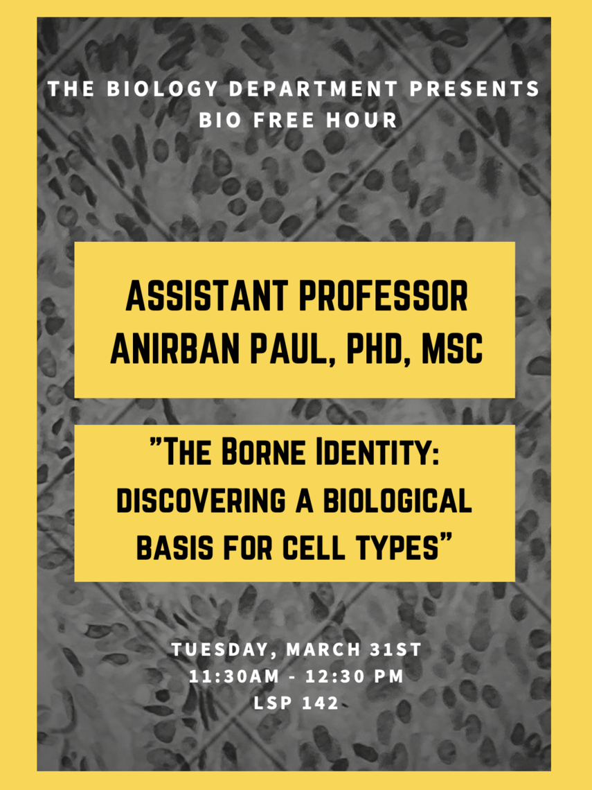 Bio Free Hour: Anirban Paul, PhD, MSC