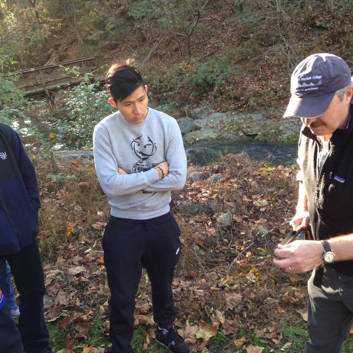 Studying soil samples at Millport Conservancy