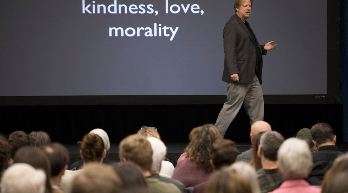 "Paul Bloom, Brooks and Suzanne Ragan Professor of Psychology and Cognitive Science at Yale University, gave a talk titled ""Against Empathy: The Case for Rational Compassion."""