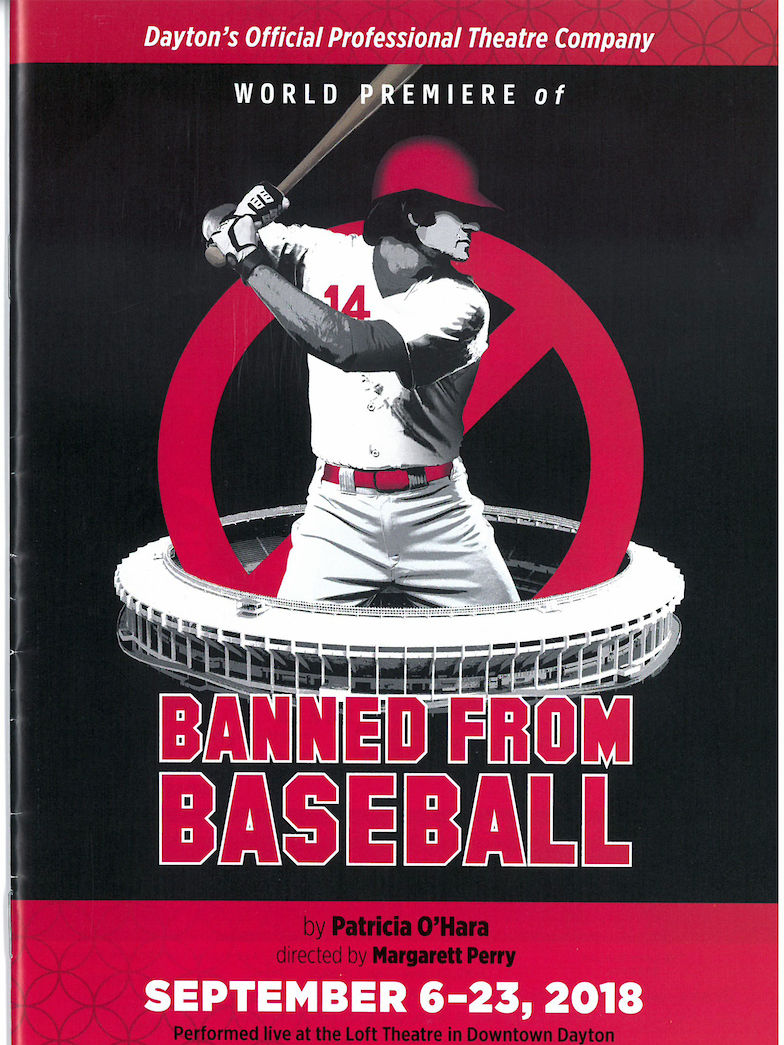 """Banned from Baseball"" playbill."