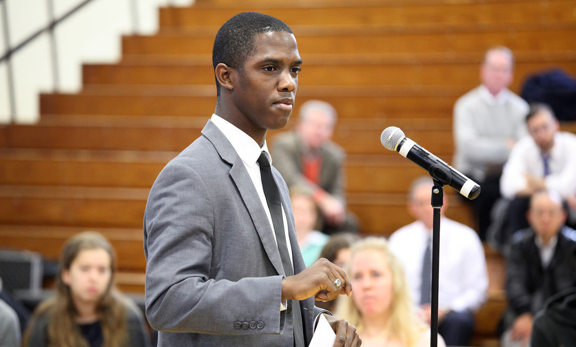 Diplomatic Congress President Donnell Bailey '17 discusses F&M's longstanding history of addressing racial equality issues.