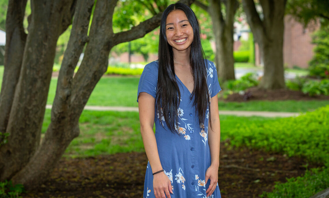 """Working as a tutor at the Writing Center has definitely been my most rewarding activity at F&M,"""" Ly says. """"And I love the intimate process of working one-on-one with students and being able to witness those moments of newfound confidence when they feel like they've made a breakthrough with a piece."""""""