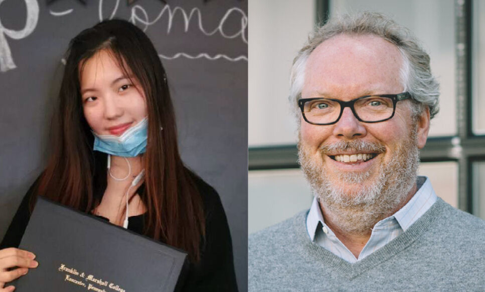 Yuhang Wang '20 and David Burn '87