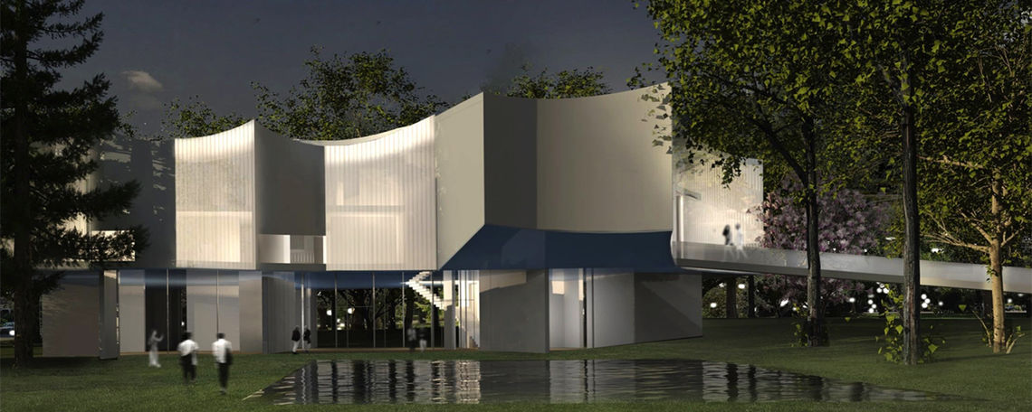 An artist rendering of the planned visual arts building.