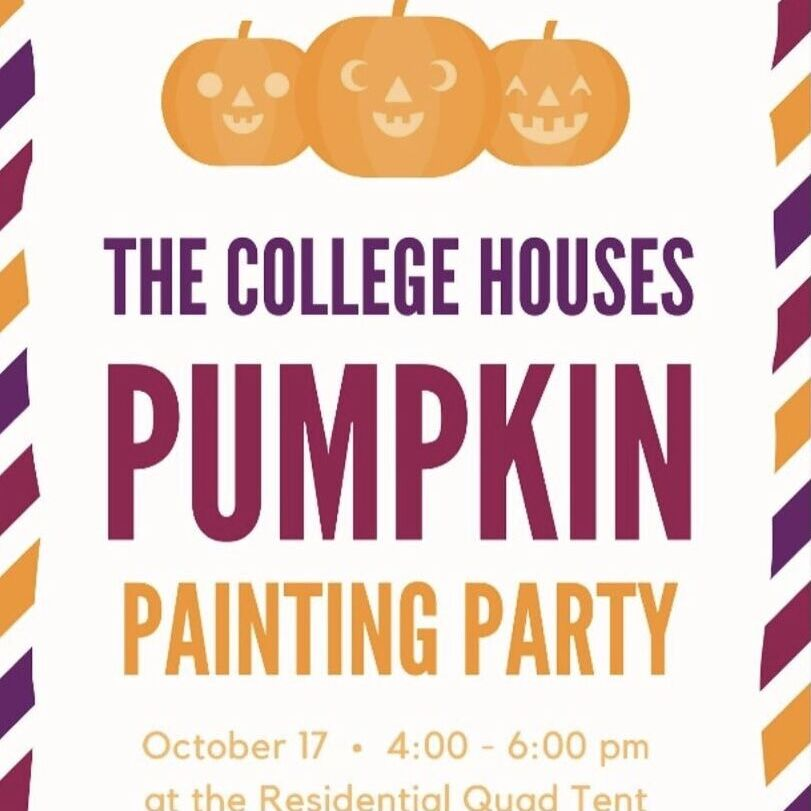 An all-College-House pumpkin painting party.