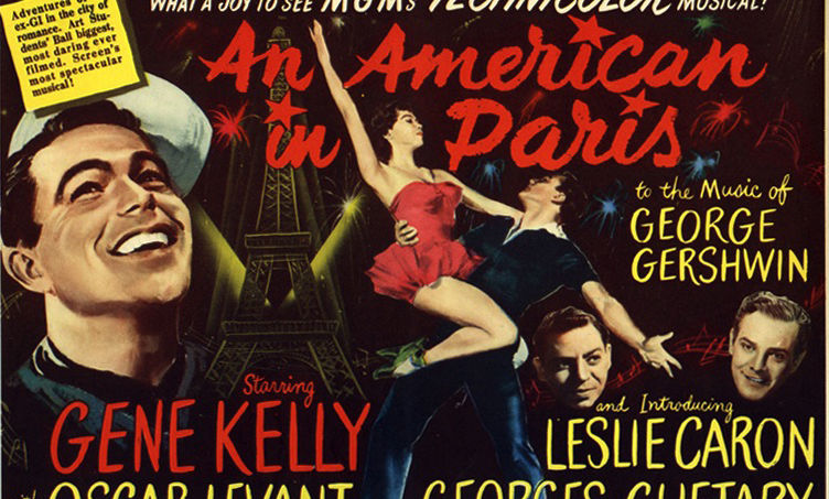 """For another perspective on """"Americans in Paris,"""" Assistant Professor of French Carrie Landfried's class views the 1951 acclaimed film """"An American in Paris."""""""
