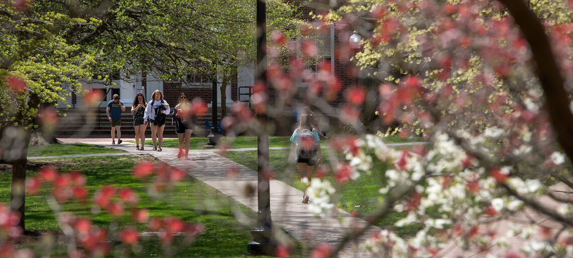Campus in early May