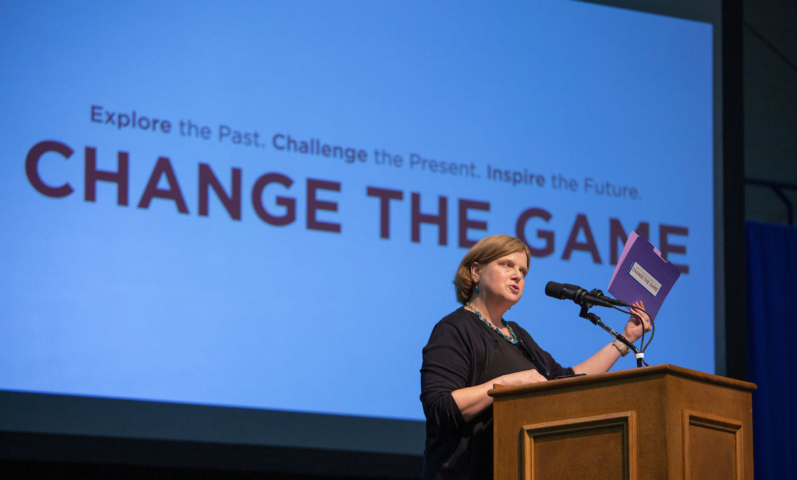 "Common Hour, 8/29/19: ""F&M Women Are Changing the Game!""  Associate Dean Kim Armstrong invites the F&M community to join in celebrating ""Gamechangers"" at F&M's first Common Hour of the 2019-20 academic year, featuring a panel discussion led by President Barbara K. Altmann."