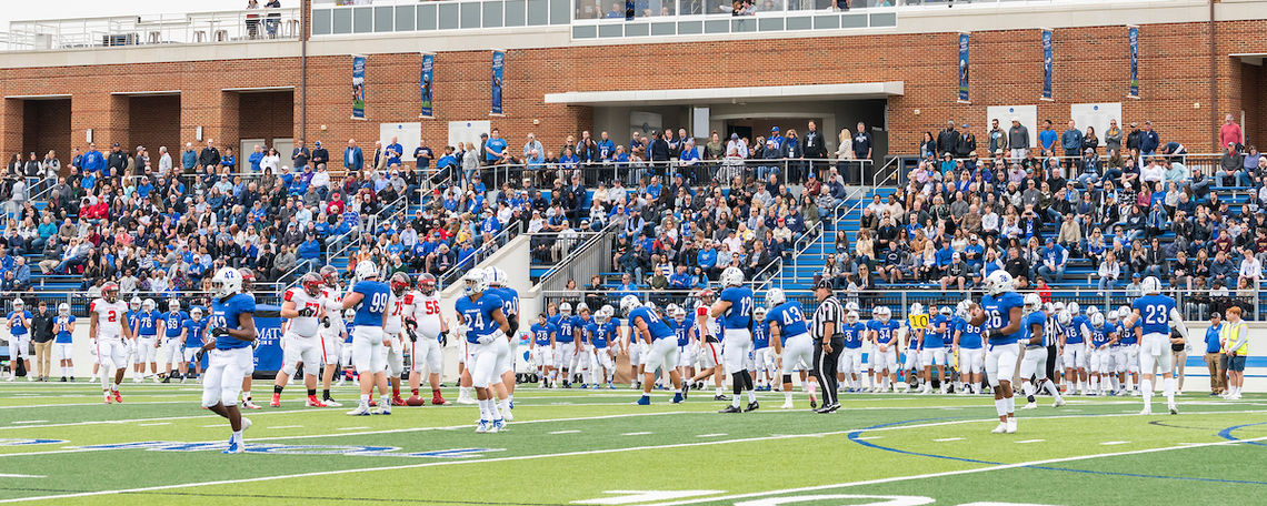 Homecoming football game during True Blue Weekend 2019.