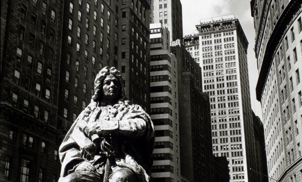 Another Abraham de Peyster, seen here in the 1930s, has been moved around the Big Apple more than its duplicate at F&M.