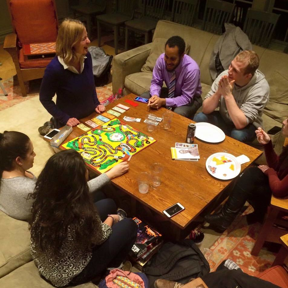 Writers House is always up for a game of Life #lifeskills 2/3/16