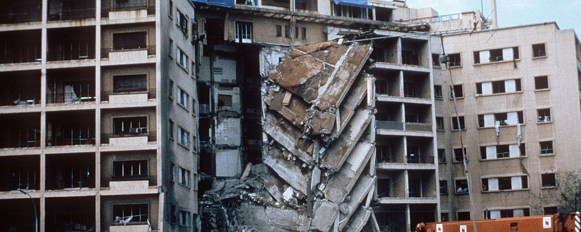 Bombing of the U.S. Embassy in Beirut, 1983.