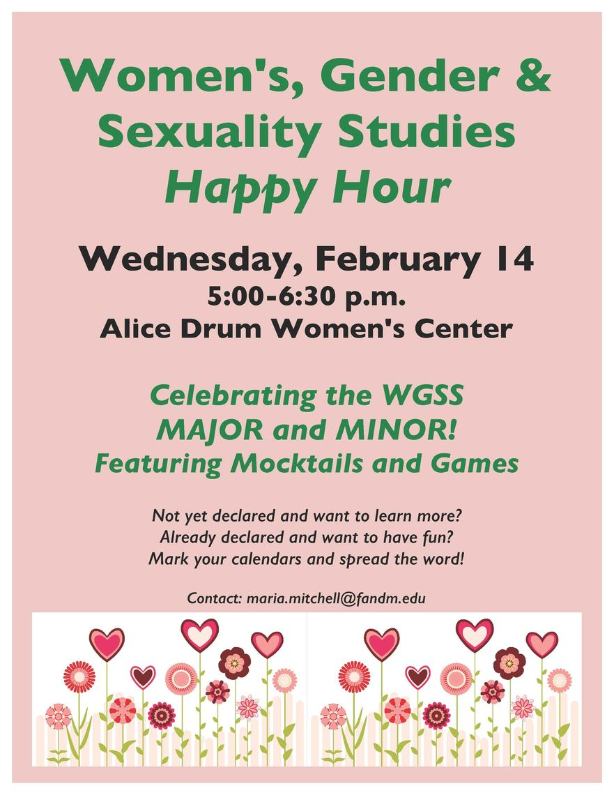 WGSS Happy Hour Poster