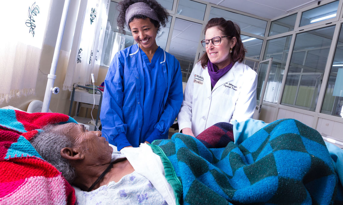 Dr. Rahel Nardos, left, founded Footsteps to Healing, a global women's health initiative that provides surgical services to rural Ethiopian women with pelvic organ prolapse and incontinence.