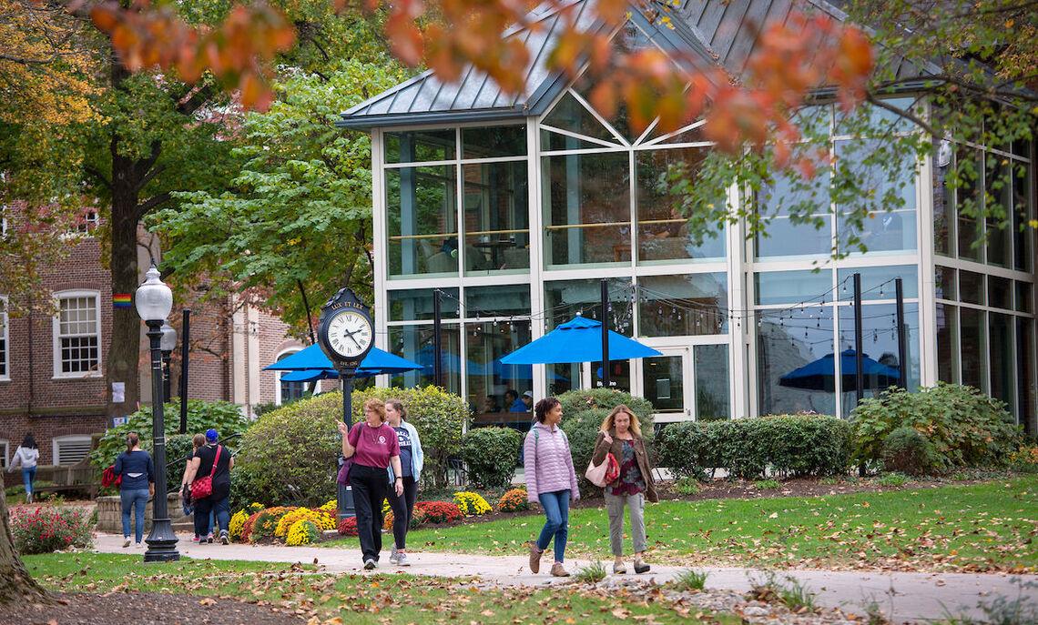 The campus in autumn