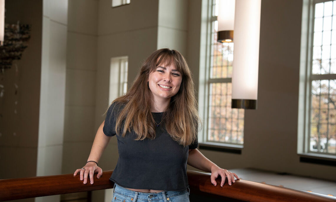 """""""As a STEM major, I've realized the importance of accessibility to information and resources, and I'm passionate about wellness and science communication,"""" said Caroline Tippett '21."""